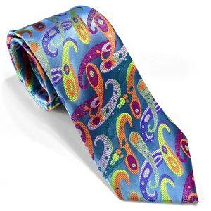 Metal Blue Paisley Multi-color Lawrence Ivey Tie